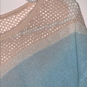 Mustard Seed Sweaters - Mustard Seed Cropped sweater baby pink/baby blue